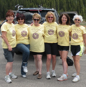 Preparing To Cycle Down Vail Pass, Co T-Shirt Photo