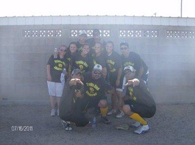 Trails End Charros Co Ed Softball Team T-Shirt Photo