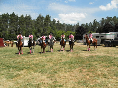 Kr Equestrian Trail Ride For Breast Cancer 2011 T-Shirt Photo