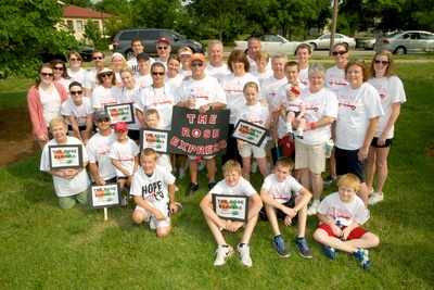 St. Louis Walk To Defeat Als   Team Rose Express T-Shirt Photo