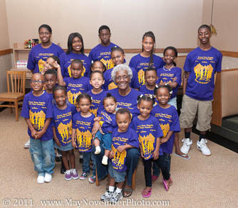 Family Matriarch & Great Grandchildren T-Shirt Photo