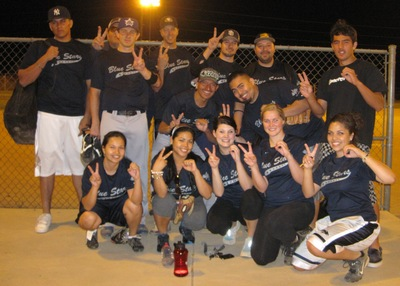 Blue Stars Softball Team T-Shirt Photo
