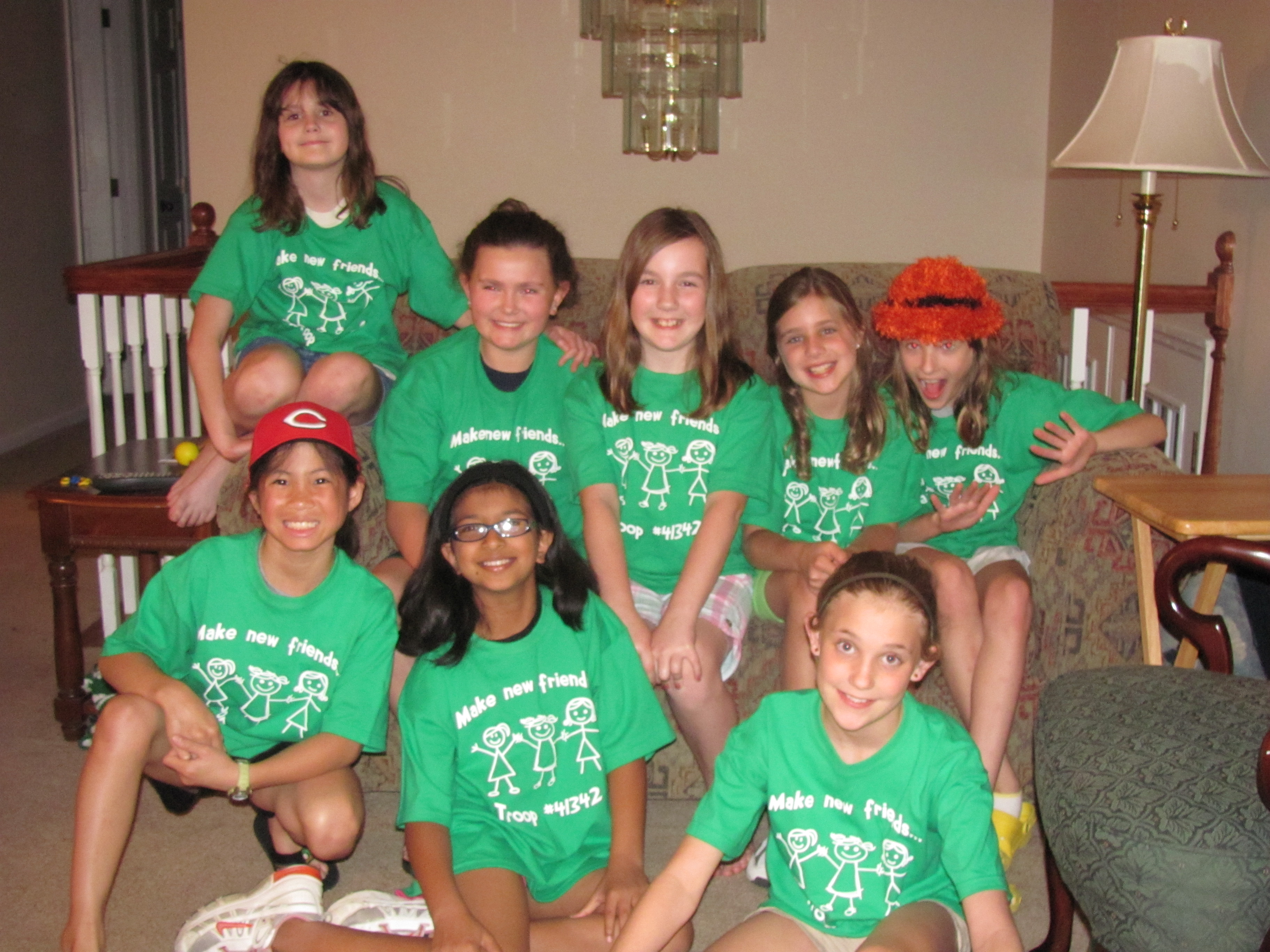 Custom t shirts for girl scouts go green shirt design for Girl scout troop shirts