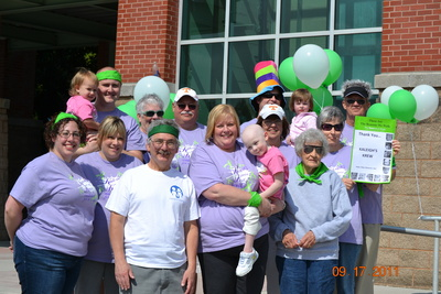 Kaleigh's Krew Walking For A Cure T-Shirt Photo