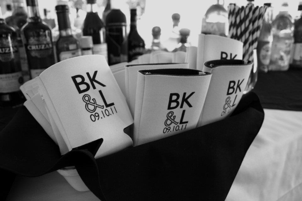 Custom Wedding Koozies | Wedding Koozie Designs Wedding Decor Ideas