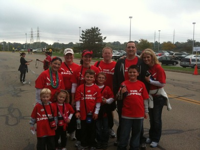 Team Tete At The  American Heart Association Heart Walk T-Shirt Photo