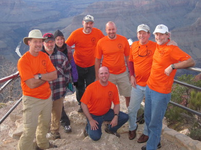 South Rim Overlook (Grand Canyon Np) During Sunset T-Shirt Photo