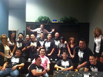 Men In A Salon T-Shirt Photo