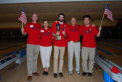 Brown University Advancement Office Bowling Party T-Shirt Photo