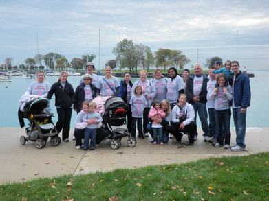 Gail's Groupies Making Strides Breast Cancer Walk T-Shirt Photo