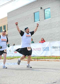 Team Awesome Finishing A Marathon! T-Shirt Photo