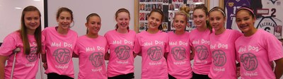 Mad Dog Volleyball Rocking Our Neon Pink! T-Shirt Photo