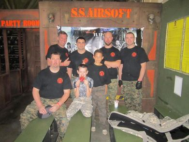 """Team Infliction Airsoft"" T-Shirt Photo"
