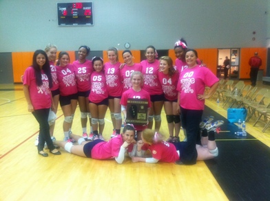 Jones College Prep Volleyball   Volley For The Cure 2011 T-Shirt Photo