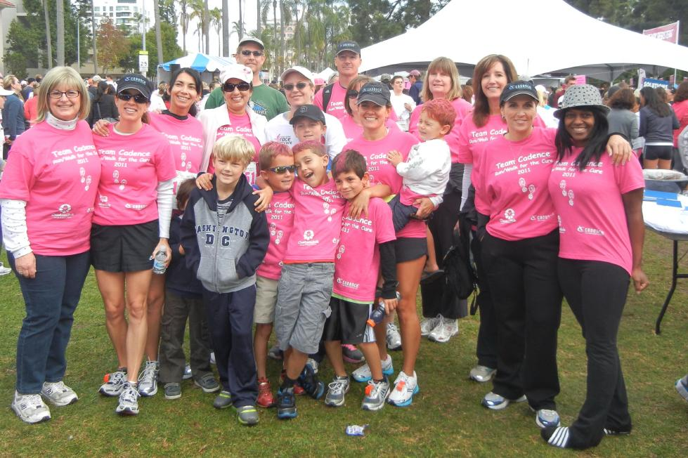 Custom t shirts for team cadence at race for the cure san for San diego custom t shirts