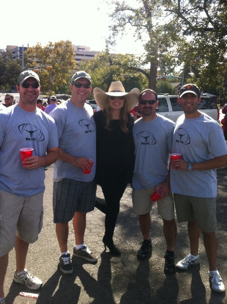Man Trip 2011   Texas Vs. Texas Tech Football Game T-Shirt Photo