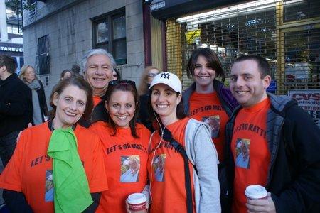 Cheering At The Ny Marathon T-Shirt Photo