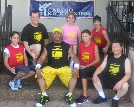 Team Cardio Kickboxing Instructors Hawaii T-Shirt Photo