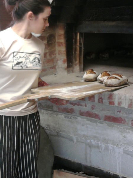 Katie Unloads Bread In Her Logo Shirt    It Matches The Oven Perfectly! T-Shirt Photo
