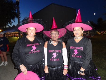 Breast Cancer Is A Witch T-Shirt Photo