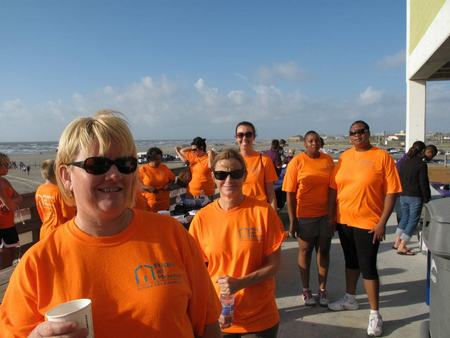 Right At Home Stands Out At Alzheimer's Walk T-Shirt Photo