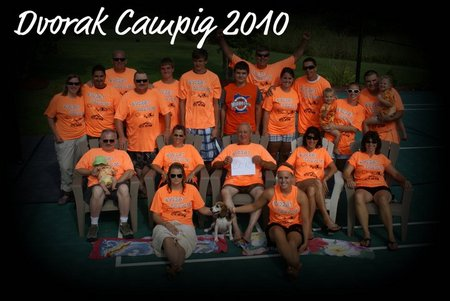 Dvorak Family Camping T-Shirt Photo