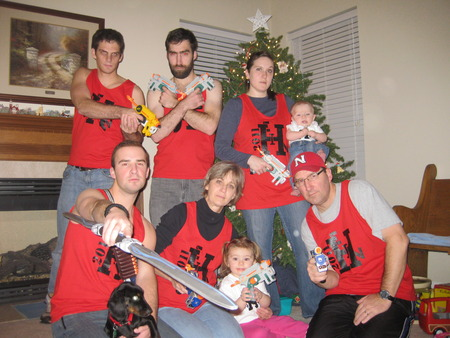 Hein Family Nerf War 2011 T-Shirt Photo