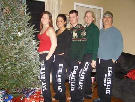 Christmas Morning In Our Matching Sweatpants. T-Shirt Photo