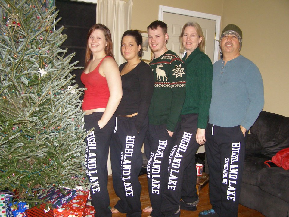 505284535f Custom T-Shirts for Christmas Morning In Our Matching Sweatpants ...