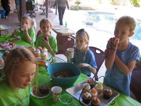 Enjoying Cupcakes T-Shirt Photo