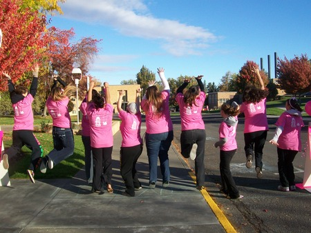 Aga Breast Cancer Awareness 5 K Run & Walk  T-Shirt Photo