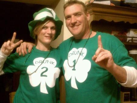 St. Patty's Day 2012 Shamrock Drunk 1 & 2 T-Shirt Photo