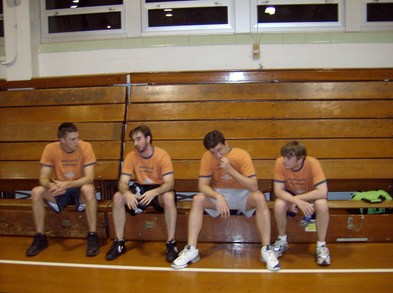 Four Tired Church Ball Players T-Shirt Photo