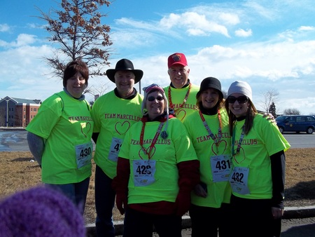 Team Marcellus  Heart Run And Walk T-Shirt Photo