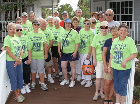 Riverwalk Walkers T-Shirt Photo
