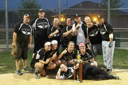 Hayley's Halo Foundation 1st Place Softball Team T-Shirt Photo