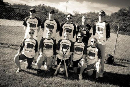 Muskoxen Softball B&W T-Shirt Photo