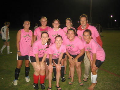 Our Soccer Team With Our Pink Jerseys! T-Shirt Photo