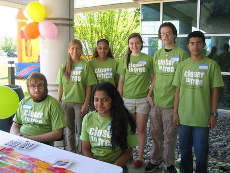 Volunteers At Closer To Free   Cancer Survivors Day T-Shirt Photo