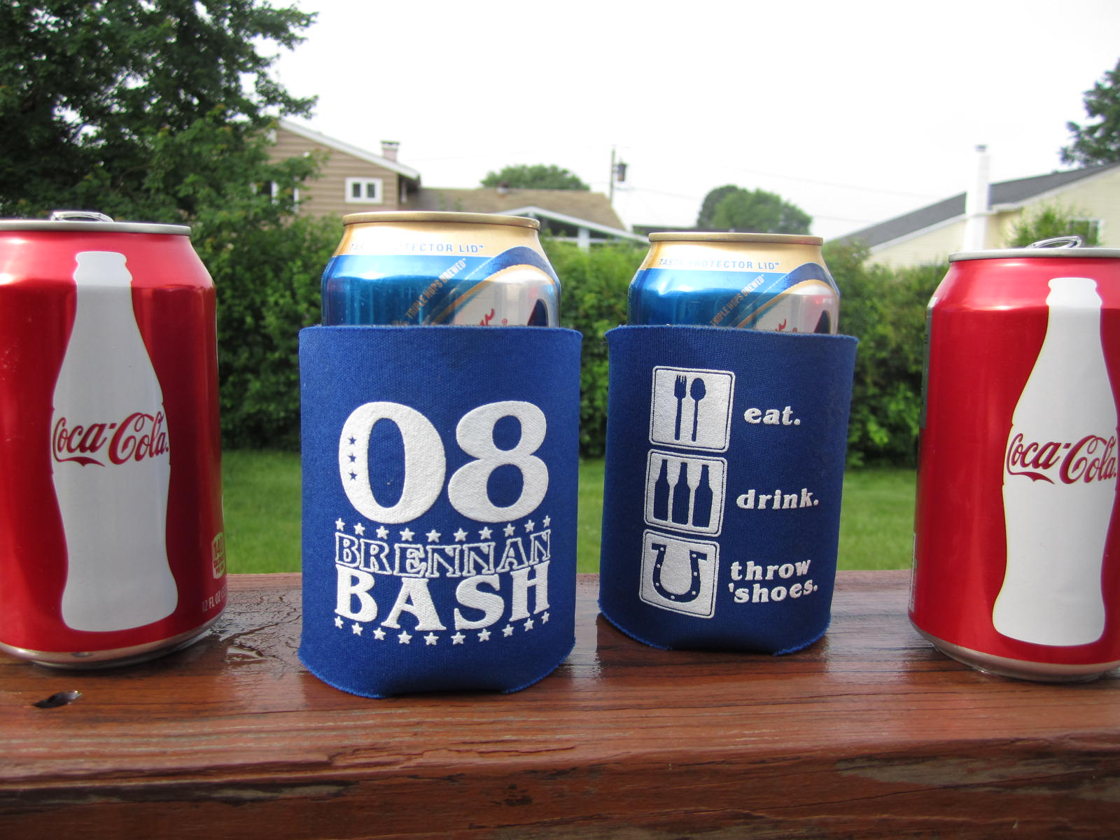 Custom T-Shirts for Brennan Bash Drink Koozies - Shirt Design Ideas