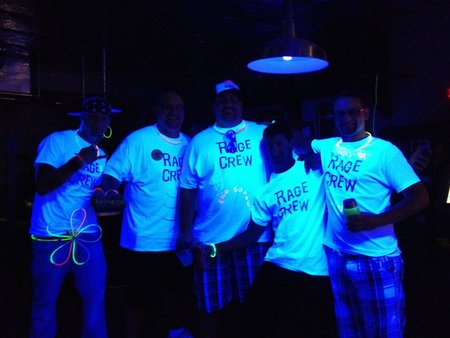 Rage Crew Black Light Party! T-Shirt Photo