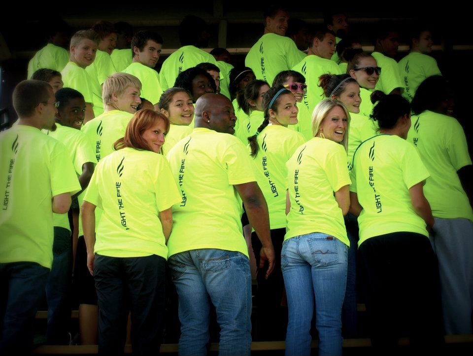 Custom T Shirts For Light The Fire Parkrose High School Track