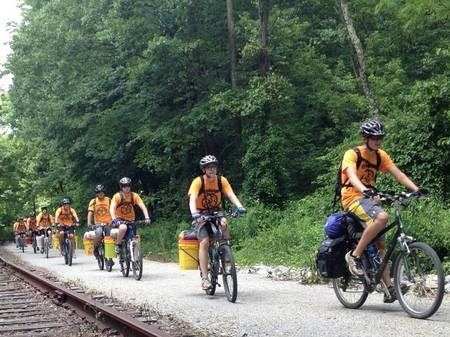 The Cyclo Maniacs On The Trail T-Shirt Photo