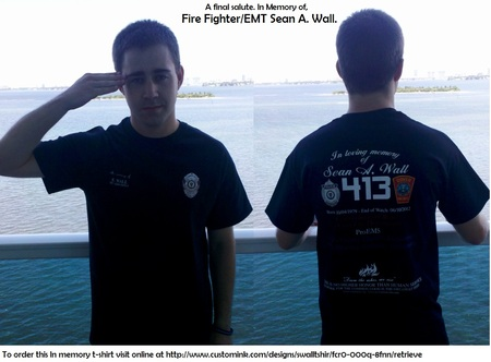 Officer/ Firefighter/ Emt Down T-Shirt Photo