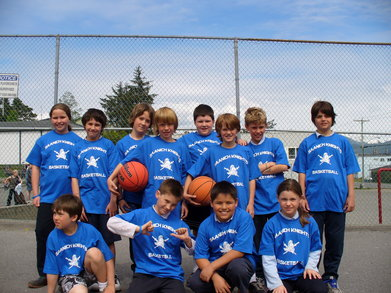 The Grade 3 And 4 Saanich Knights Basketball Team T-Shirt Photo