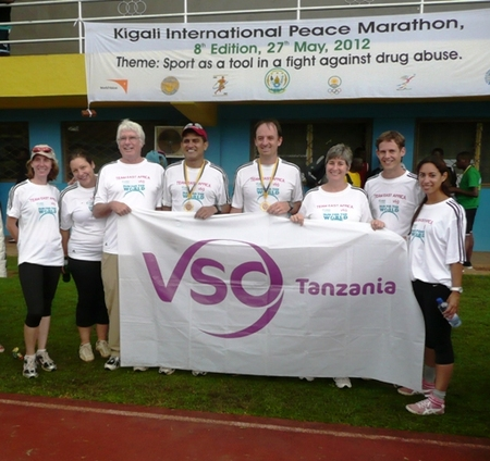 Cuso International  & Vso Team Run The Kigali Marathon  T-Shirt Photo
