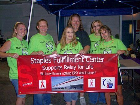 Staples Beloit Fulfillment Center Relay For Life 2012 T-Shirt Photo