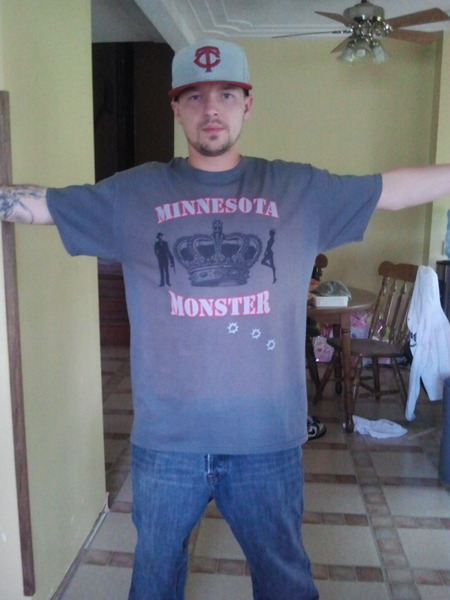 Minnesota Monster Custom T-Shirt Photo