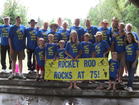 Rocket Rod Rocks At 75! T-Shirt Photo