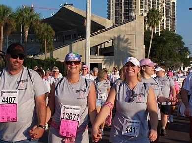 Walking For The Cure In Custom Ink T's T-Shirt Photo